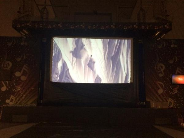 rear projection inflatable screen
