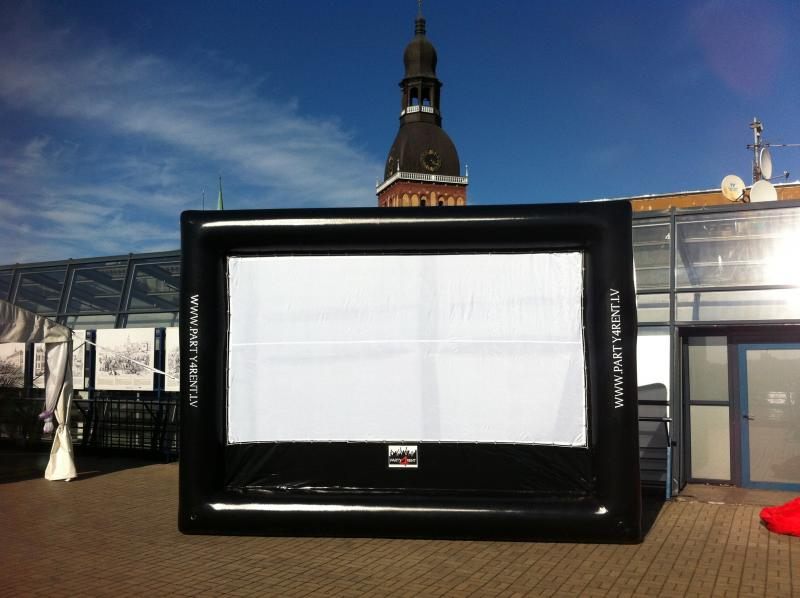 Inflatable screen Riga, Latvia
